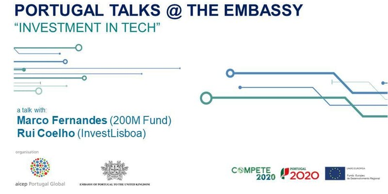 Portugal Talks @ The Portuguese Embassy | Investment in Tech | Londres, 5 dez